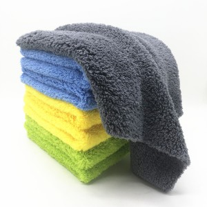 Double Sides Long Piles Coral Fleece Towel Edgeless Plush Car Polishing Cloth