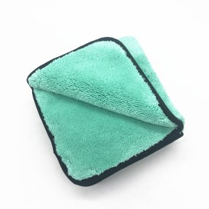 1000gsm Microfiber Long Piles Cleaning Cloth Polyester Plush Coral Fleece Towel