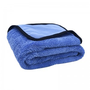 Single Twisted Towel Microfiber Car Drying Towel with Border Edge
