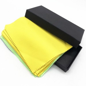 Microfiber suede towel and box set customized color car cleaning cloth