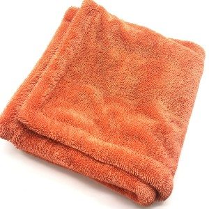 Orange Color Large Size and Quickly Drying Double Twist Loop Towel