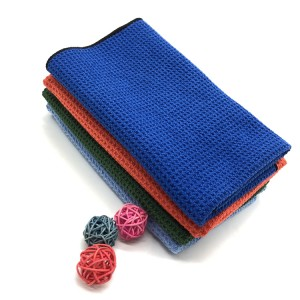 No Lint Microfiber Waffle Towel Car Window and Car Glass Cleaning Towel