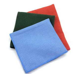 Microfiber Car Washing Household Cleaning Towel Polyester Waffle Weave Towel