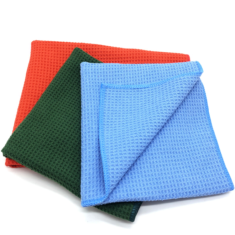 No Lint Microfiber Waffle Towel Car Window and Car Glass Cleaning Towel Featured Image