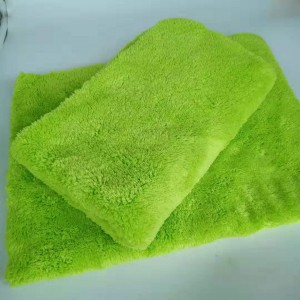 670gsm Edgeless Plush Microfiber coral fleece towel