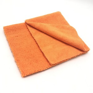 New Orange Color Long Short Piles Towel Five Colors Microfiber Car Cleaning Cloth