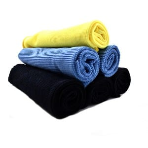 Edgeless microfiber pearl towels