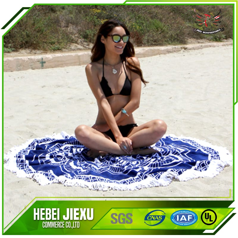 100% Polyester Round beach towel Featured Image
