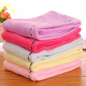25*65cm microfiber hair care towel for women drying