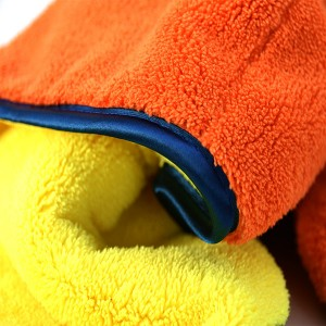 800gsm double layers plush microfiber towel