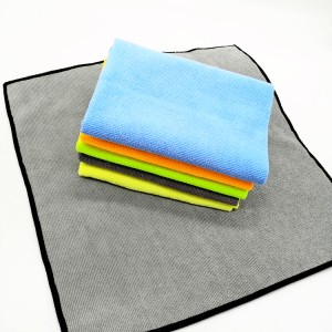 Five Colors Microfiber All Working Towel Warp Knitted Car Cleaning Cloth