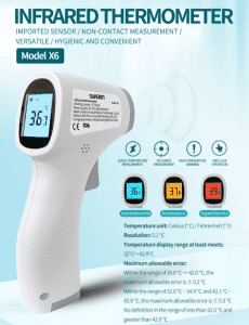 China Factory for Equinox Forehead Thermometer -