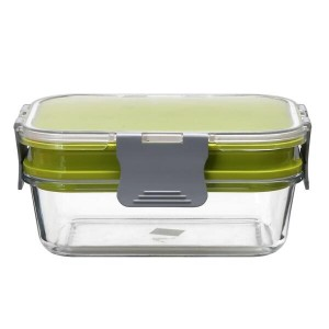 New item–Patented space-saving double-layer meal prep container!