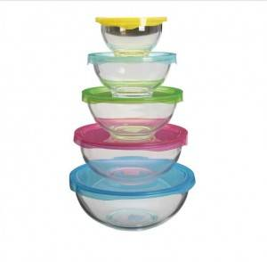 High borosilicate glass mixing bowl salad bowl