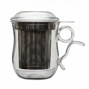 Glass Tea Mug with filter SKU NO.1416