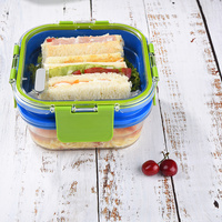 Double Layers Glass Lunch Box