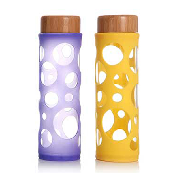 Chinese wholesale Glass Coffee Cup With Silicone Lid – Single Wall Glass Bottle SKU NO.1683 – SJZ JINXUAN Featured Image