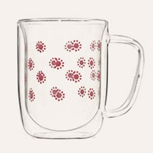Double Wall Glass Mug SKU NO.12127