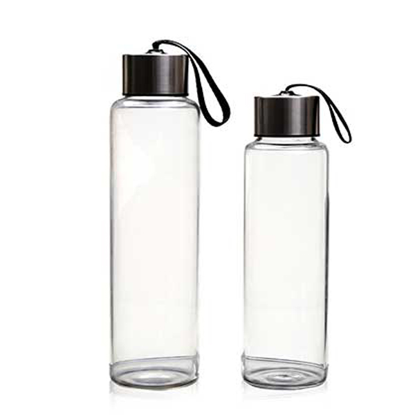 China Cheap price Borosilicate Glass Bottle With Bamboo Lid -