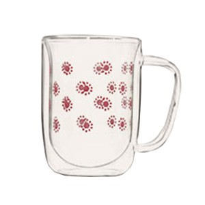 Wall Double Glass Mug SKU NO.12130