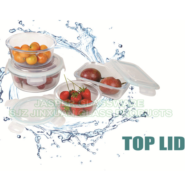 Borosilicate Glass Food Storage Container with Top Lid Featured Image