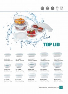 Borosilicate Glass Food Storage Container with Top Lid