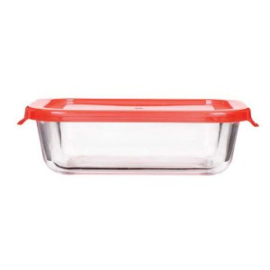 Glass Food Storage Container, Glass Meal Prep Container with Simple Lid