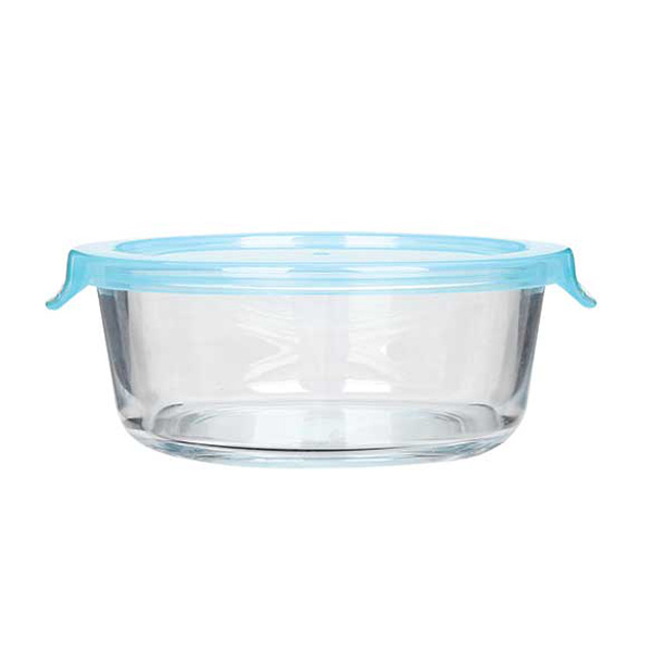 Glass Food Storage Container, Glass Meal Prep Container with Simple Lid Featured Image