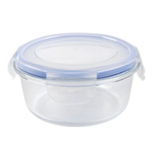 Glass Food Container with Flat lid