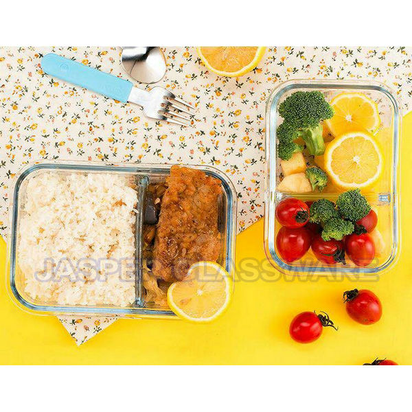 Hot Selling Economical 2-Compartment Glass Meal Prep Food Containers with vent lid Featured Image