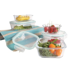 Food Prep Glass Storage Containers with Vented Lids