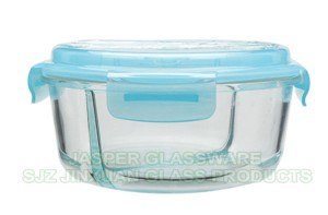 Glass Lunch Box Meal Prep Container Food Storage Container 2 or 3 Compartment  with FREE Cutlery