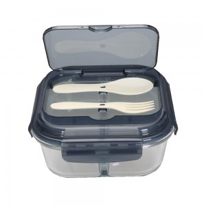 Modern Microwavable Glass Food Lunch Box For Officers