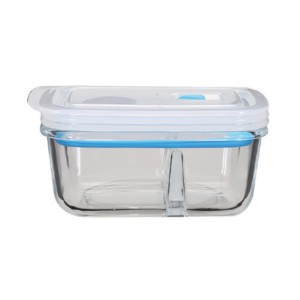 Hot Selling Economical Compartment Glass Meal Prep Food Containers with vent lid