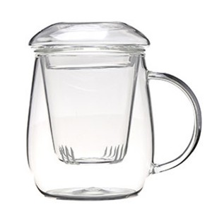 Glass Tea Mug with filter SKU NO.1443