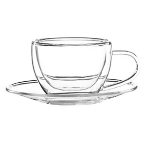 Double Wall Glass Mug SKU NO.1214