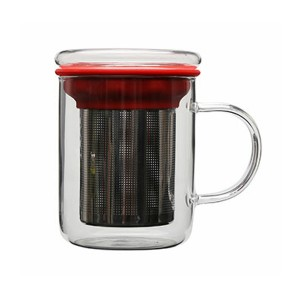 Glass Tea Mug with filter SKU NO.1447