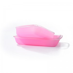 Glass bakeware dish plate with silicone coating