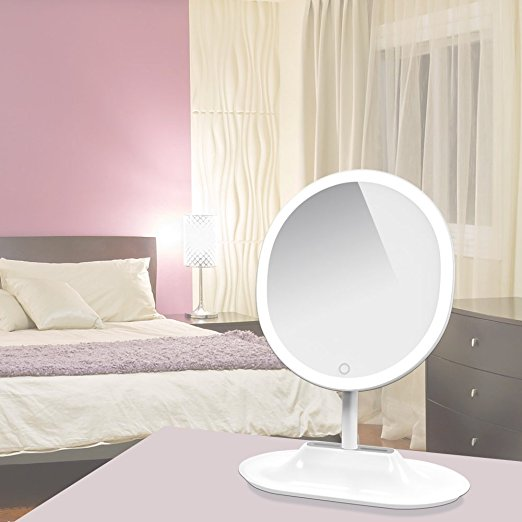 Reasonable price Portable Led Lighted Mini Circular Makeup Mirror -