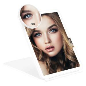 LED MAKEUP MIRROR WITH COVER