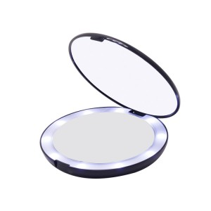 DOUBLE SIDED LED TRAVEL MIRROR