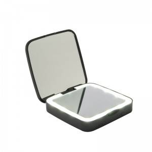 LED LIGHTED TRAVEL MIRROR WITH POWER BANK