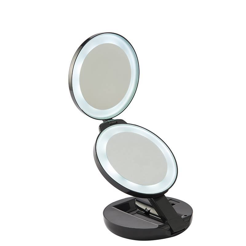 FOLDABLE LED LIGHTED TRAVEL MIRROR Featured Image