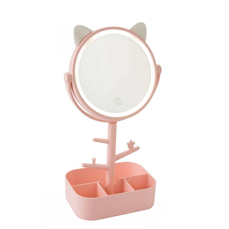LED LIGHTED TABLE MIRROR WITH STORAGE BOX Featured Image