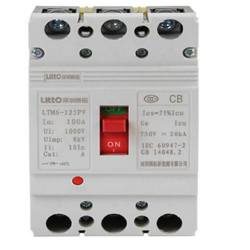 DC Moulded Case Circuit Breaker FPVM-125 3P