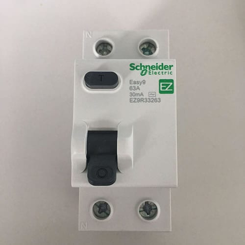 Yotsalira Current Dera Breakers DX3 63A EZ9R36263 2P
