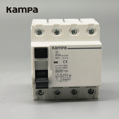 Residual Current Circuit Breakers IID 63A 4P