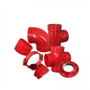 Ductile Iron Grooved Fittings FM UL fọwọsi Fire Protection System