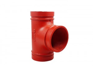 best price 3/4″ grooved connection cast iron pipe fittings test tee y pipe fitting
