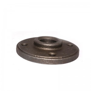 3 4 cast iron pipe floor flanges and flanged fittings for home decoration